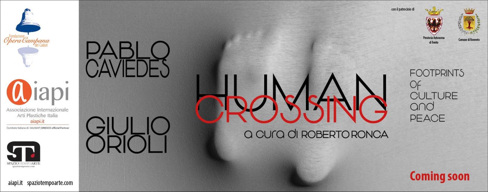 banner HUMAN CROSSING sito fondazione